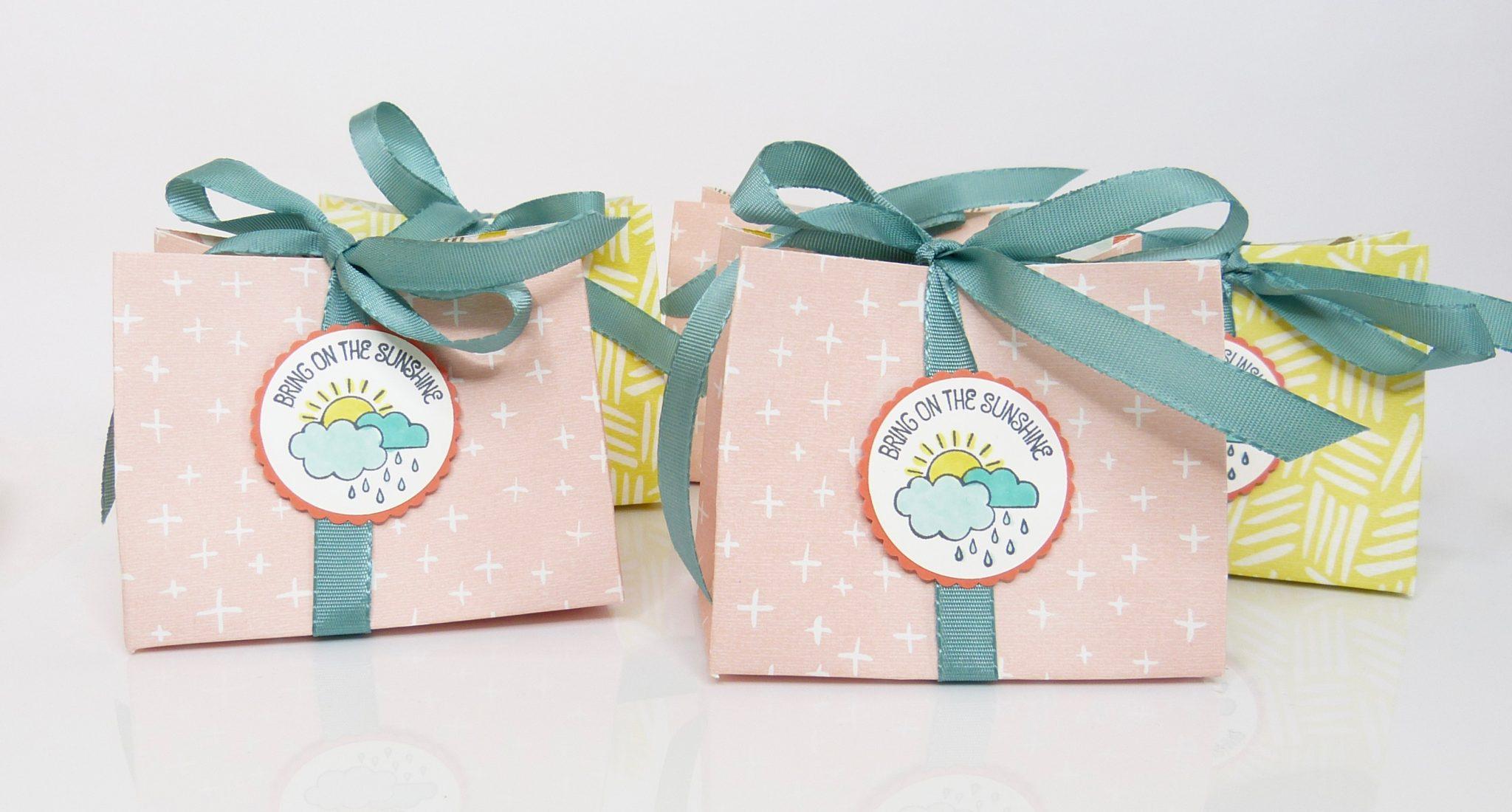 Verpackung mit Punchboard für Geschenktüten