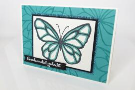 Karte, Stempelitis, Schmetterling
