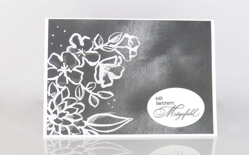 Trauerkarte, Stempelitis
