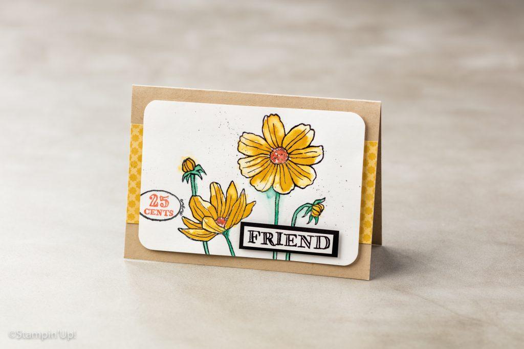 Stampin' Up! Karte mit Blume