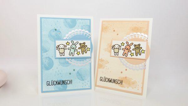 Babykarte mit Schwammwalzen Technik