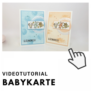Klick zum Video Babykarte mit Schwammwalzen Technik