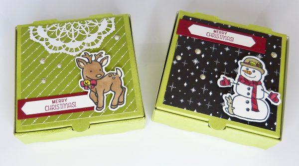 Pizzakarton Weihnachtlich Stempelitis