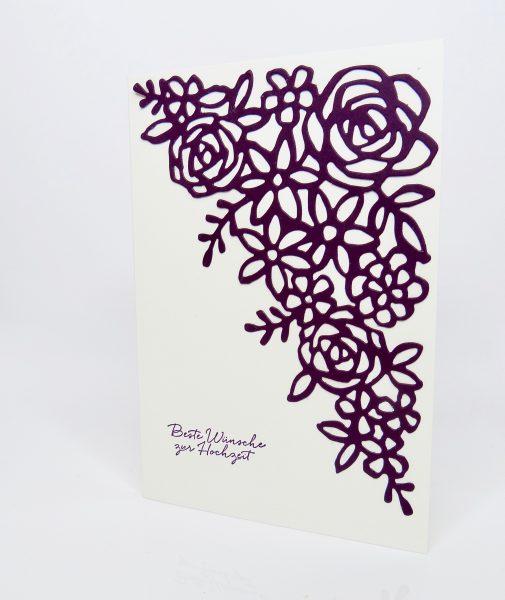 Hochzeitskarte mit Frühlingsimpressionen - von Stempelitis