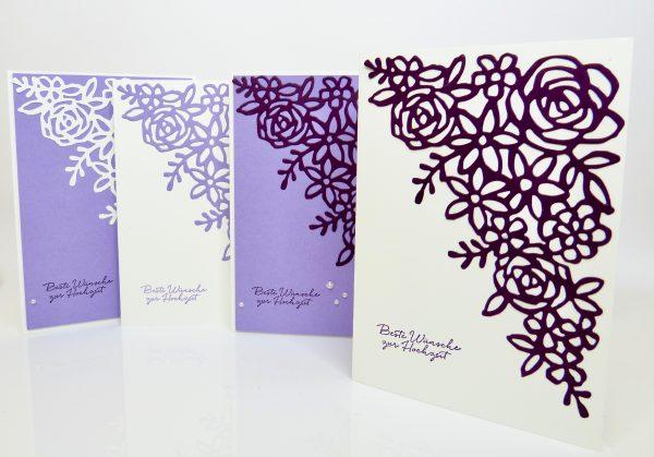 Hochzeitskarte mit Frühlingsimpressionen von Stampin Up