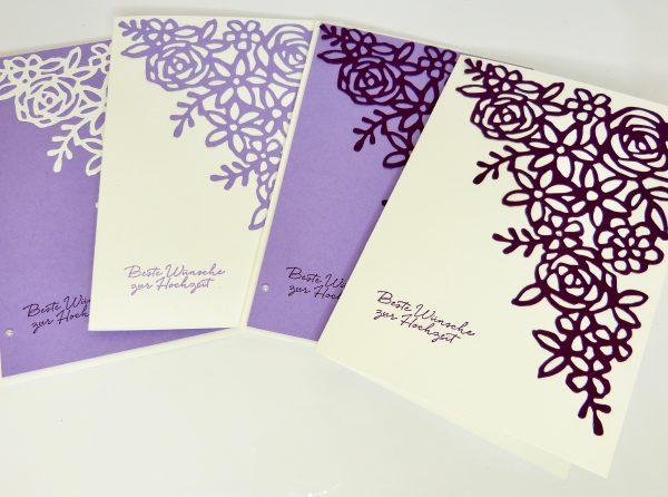 Hochzeitskarte mit Frühlingsimpressionen