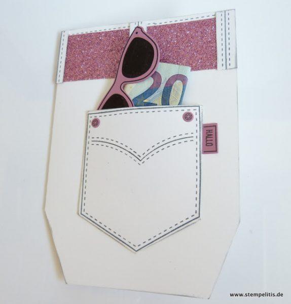Jeanshose Karte für Geldgeschenk