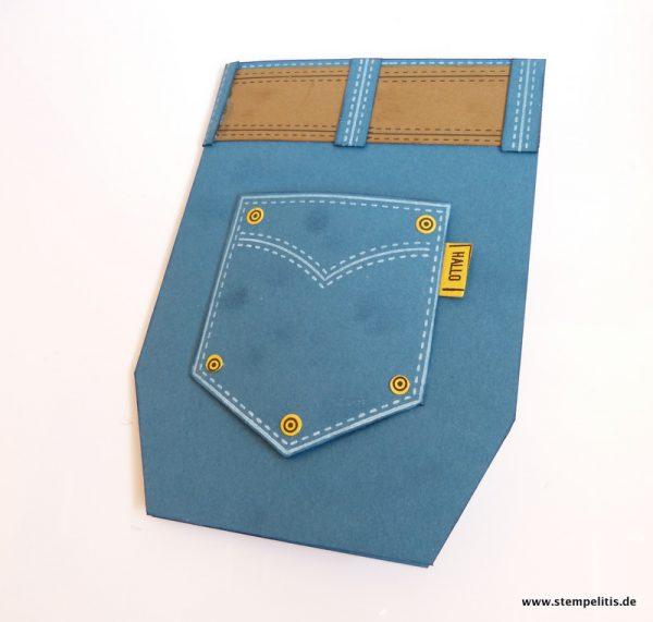 Jeanshosenkarte für Geldgeschenk