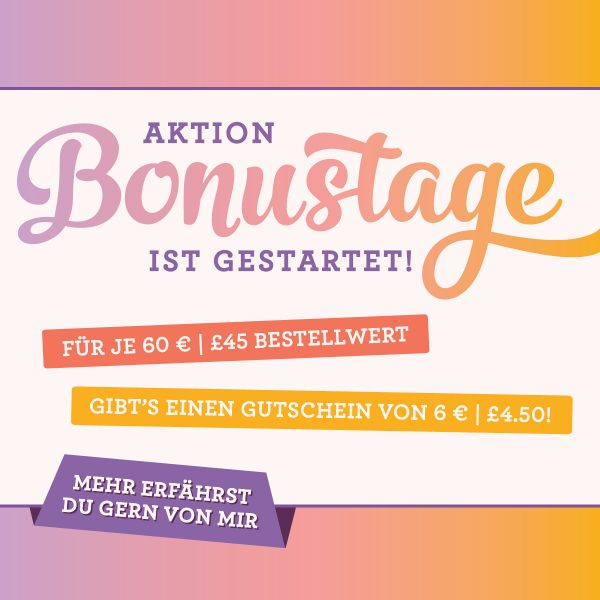 Bonustage Aktionen im August 2018 Stampin Up