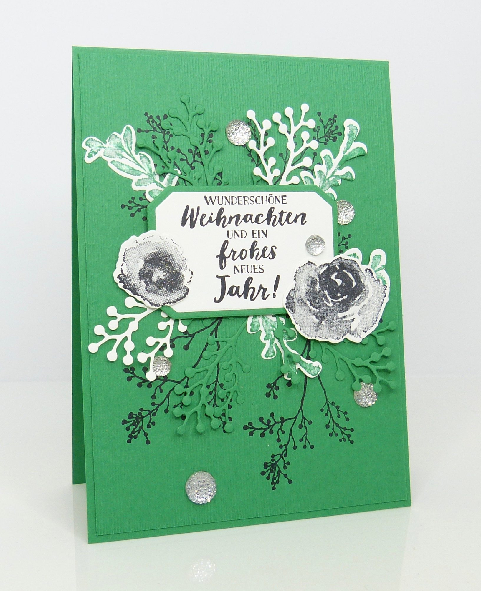 Weihnachtskarte Kleegrün