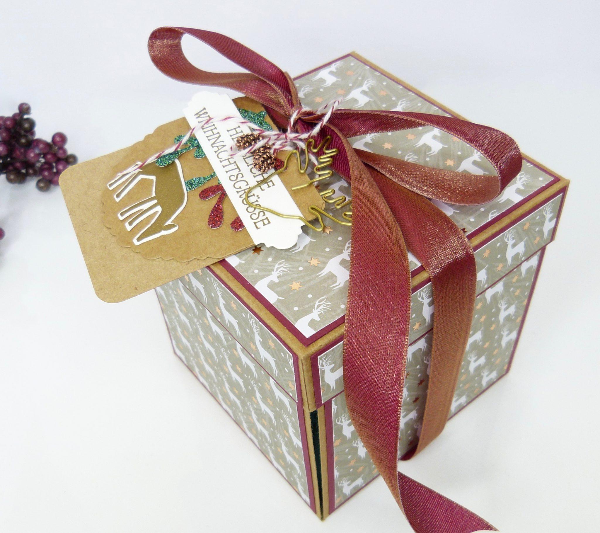 Explosionsbox Weihnachtshirsch