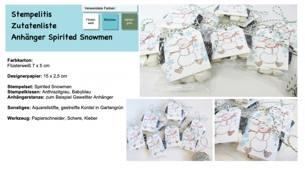 Anleitung Spirited Snowmen