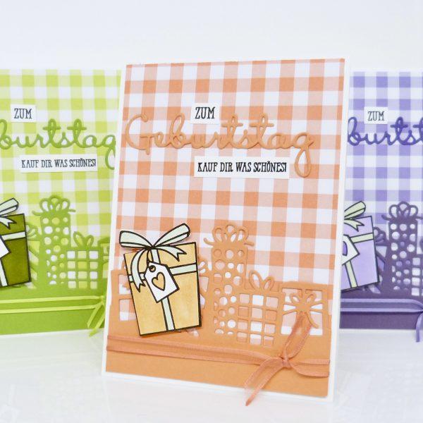 Geburtstagskarte mit Gutscheinfach
