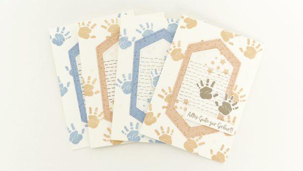 Babykarten mit Händchen