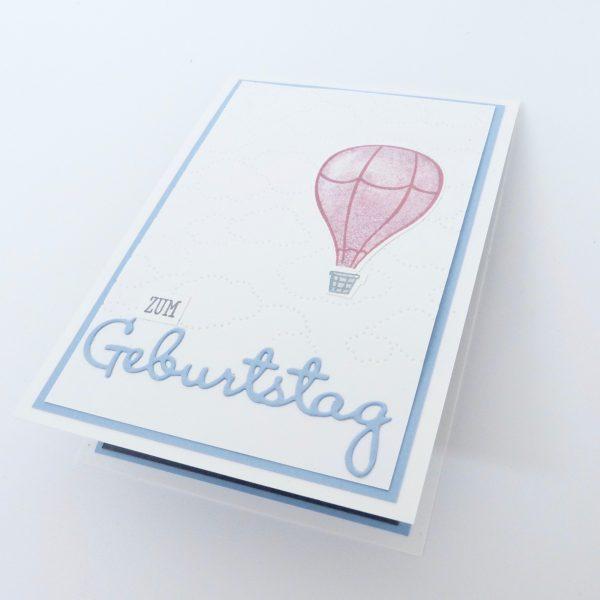 Pop Up Karte Ballons