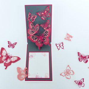 Pop Up Schmetterlinge