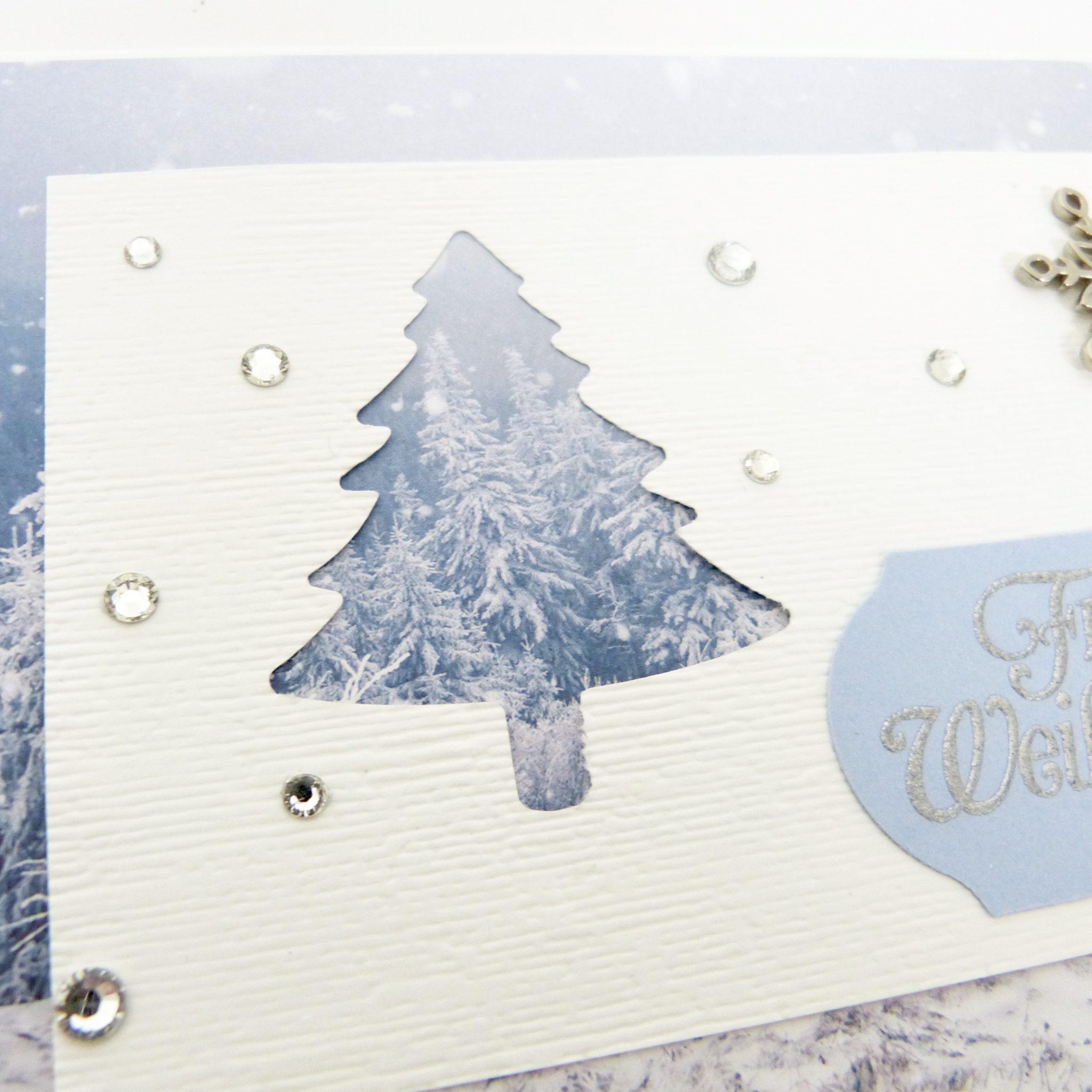 Weihnachtskarte Winterwald