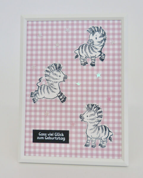 Zany Zebras Bilderrahmen