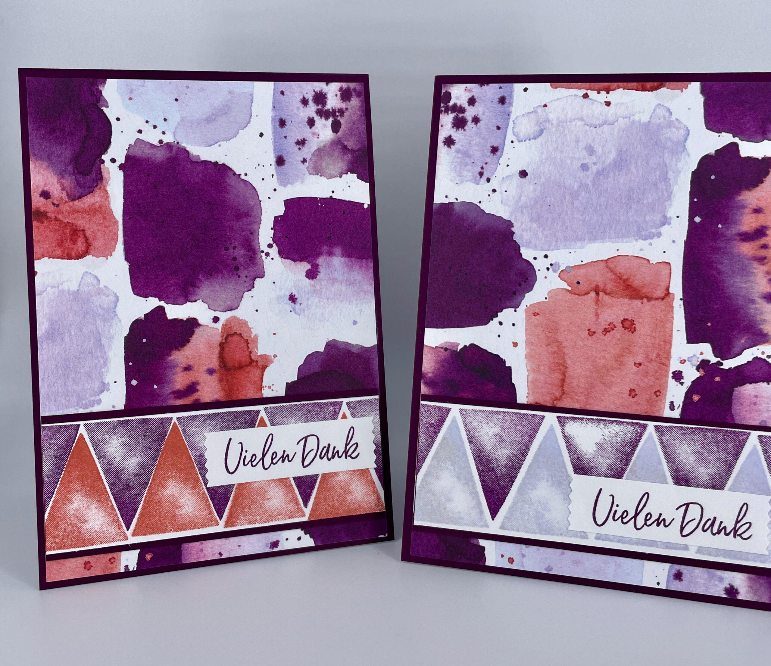 Karten mit Farbexplosion